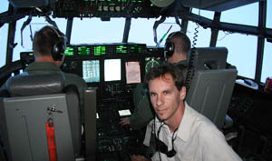 Flying INTO Hurricane Ike